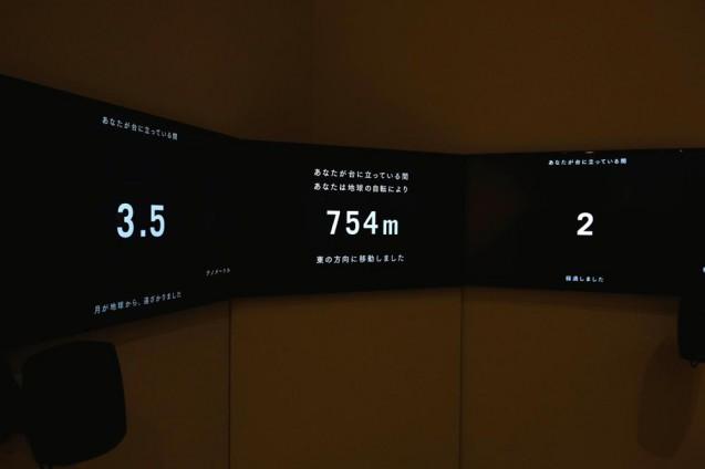 「単位展 ― あれくらい それくらい どれくらい?」地球の自転と月の公転を可視化したコーナー