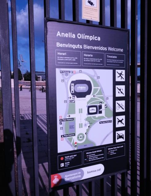 オリンピック公園周辺に設置されている、会場サイン。