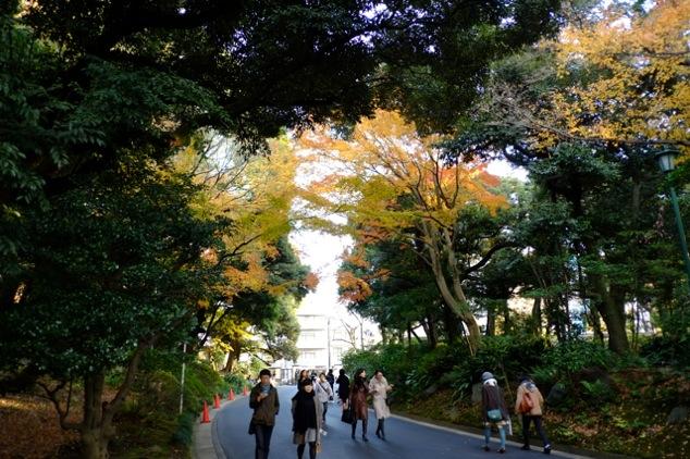 白金 東京都庭園美術館(旧朝香宮邸)のアプローチ|FUJIFILM X-M1+XF18/F2