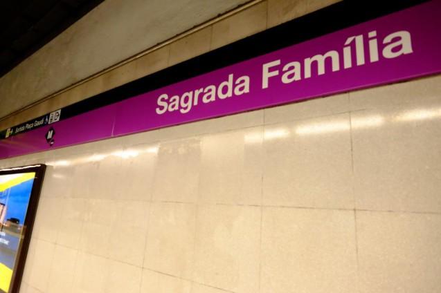 地下鉄サグラダ・ファミリア駅。