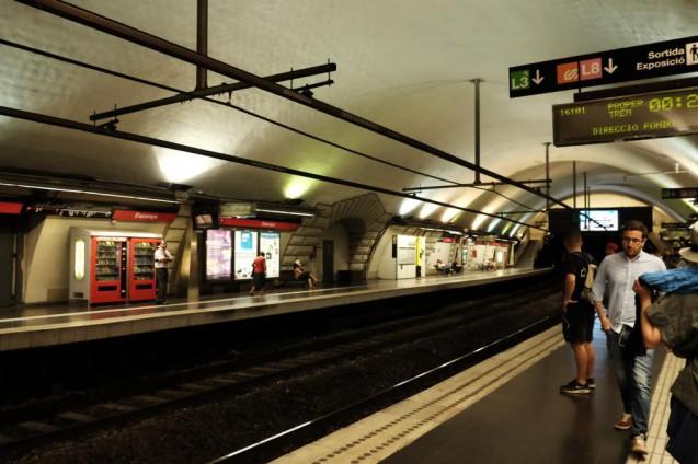 地下鉄Marina駅のプラットフォーム。