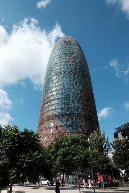 アグバータワー(アグバールタワー)(Torre Agbar )近影