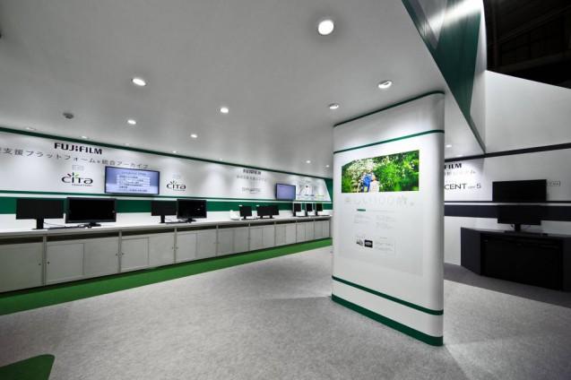 展示会ブースデザイン、展示会装飾、事例|ITEM in JRC 2017 富士フイルムブース (25)