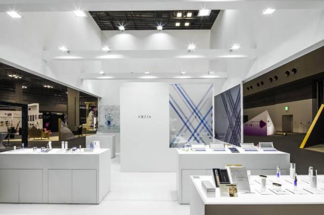 Beautyworld Japan 2017に出展した AXXZIAブースのデザイン事例 (5)