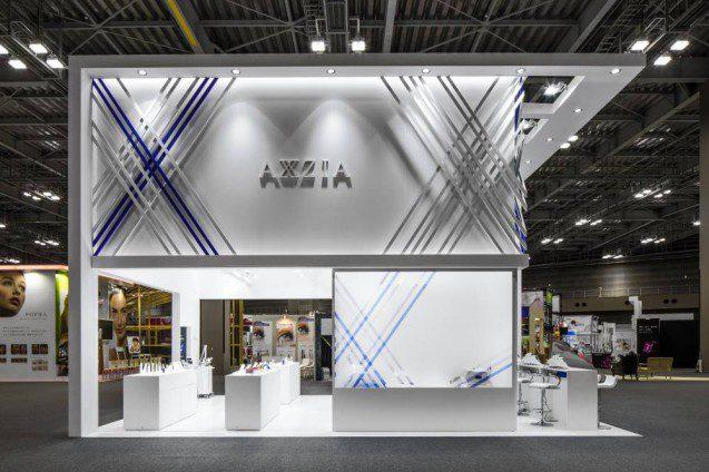 展示会ブースデザインの事例|Beautyworld Japan 2017 AXXZIA