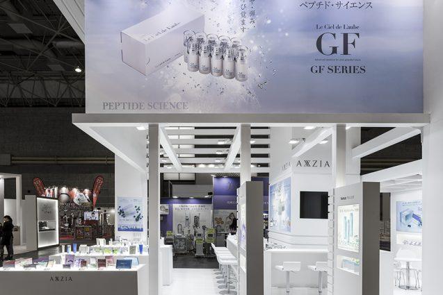 展示会デザイン、展示会装飾の事例|ビューティーワールドウェスト2018 アクシージア_ブース_2018 (10)