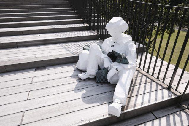 彫刻家の朱銘氏の作品。元々は期間限定での設置が延長されているそう。