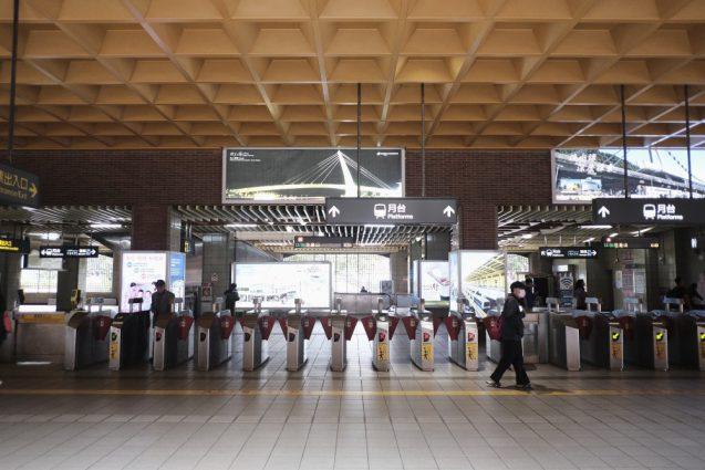 淡水駅。台北の北にある淡水は、台北中心部から地下鉄で45分くらい。