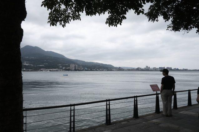 淡水老街(旧市街)の裏手にある淡水河。河口付近なので河というよりは海。