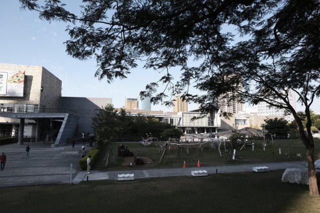 国立台湾美術館。敷地から見たビュー