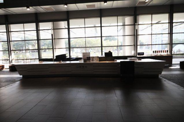 国立台湾美術館、1Fのインフォメーションカウンター