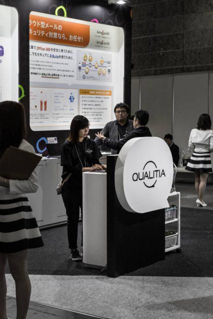 展示会ブースデザイン事例 IT-WEEK 2019 関西 クオリテチィア社の展示ブース (2)