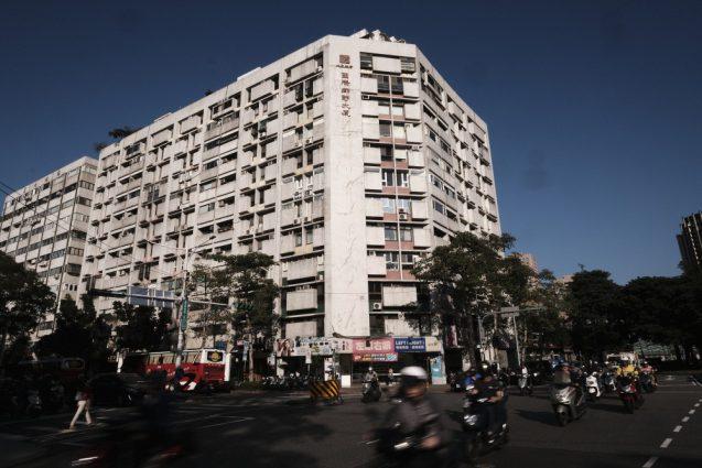 台北市内の街並み。台湾大学付近