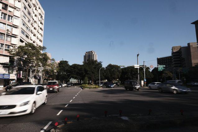 台北市内の街並み。安和路付近