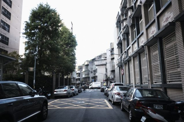 台北市内の街並。和平東路に面した閑静な住宅街