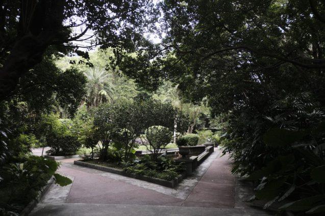 松山文創園區(松山文創園区)の広大な中庭。