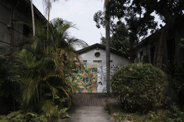 松山文創園區(松山文創園区)北側にあるトイレ棟。