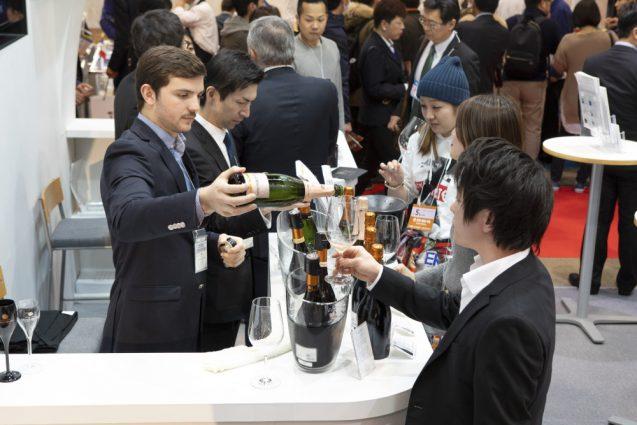 """FOODEX フーデックス2019 """"PLEASURE WINE""""未来堂ブース。ワイナリーの生産者コーナー。"""