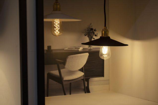 東京インターナショナルギフトショー2019に出展したanrecの展示会ブースデザイン。ソケットランプの展示。