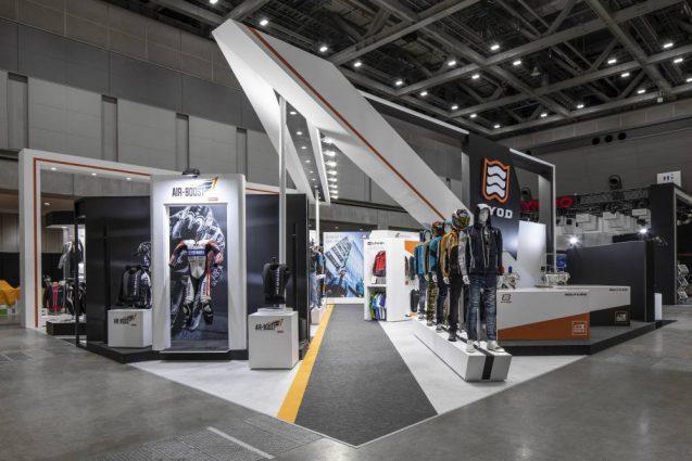 東京モーターサイクルショー2019 HYOD ヒョウドウプロダクツ 展示会ブース全景 導入側より