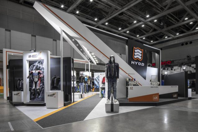 東京モーターサイクルショー2019 HYOD ヒョウドウプロダクツ 展示会ブース全景