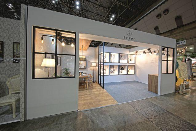 東京インターナショナルギフトショー2019に出展したanrecの展示ブース。全景、反対側。