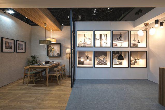 東京インターナショナルギフトショー2019に出展したanrecの展示ブース。内部前景。