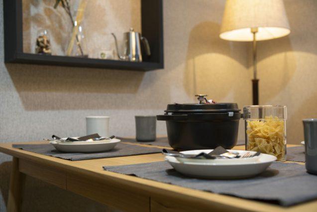 東京インターナショナルギフトショー2019に出展したanrecの展示ブース。テーブルセット、別角度。