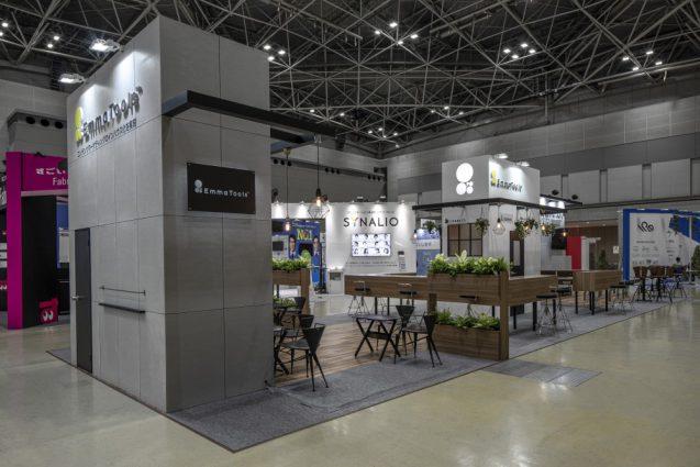 展示会ブースデザインと装飾の実例-JAPAN IT-WEEK 2019 春 Emma Toolsブース (7)