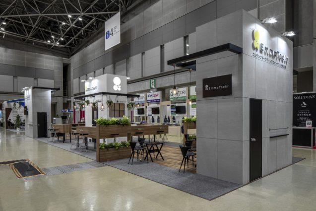 展示会ブースデザインと装飾の実例-JAPAN IT-WEEK 2019 春 Emma Toolsブース (6)
