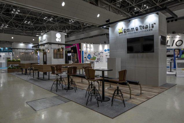 展示会ブースデザインと装飾の実例-JAPAN IT-WEEK 2019 春 Emma Toolsブース (2)