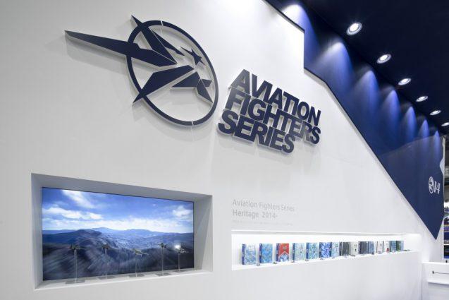 展示会ブースデザインと装飾の実例-全日本模型ホビーショーAVIATION FIGHTERS Booth 会場の様子 (10)