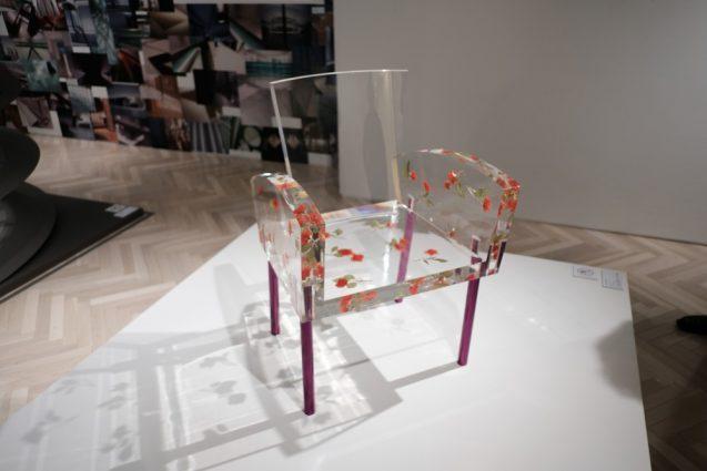 展覧会「デザイン百貨店」会場に鎮座されていたミスブランチ(倉俣史郎。1988年)