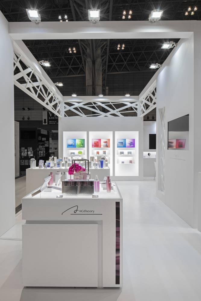 化粧品開発展2020 東京 アクシージアブース ブース内部