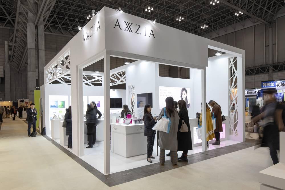 化粧品開発展2020 東京 アクシージアブース|来場の様子