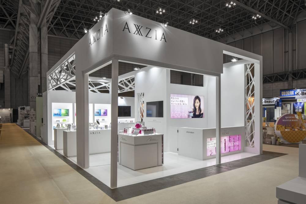 化粧品開発展2020 東京 アクシージアブース ブース正面側