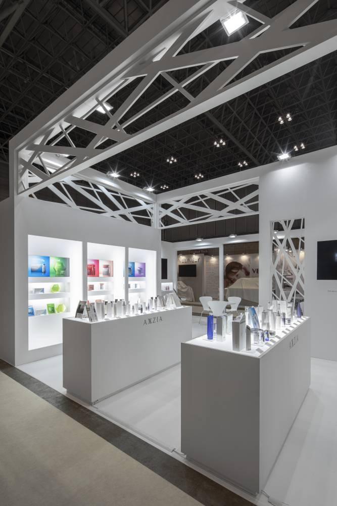 化粧品開発展2020 東京 アクシージアブース|ブース内部