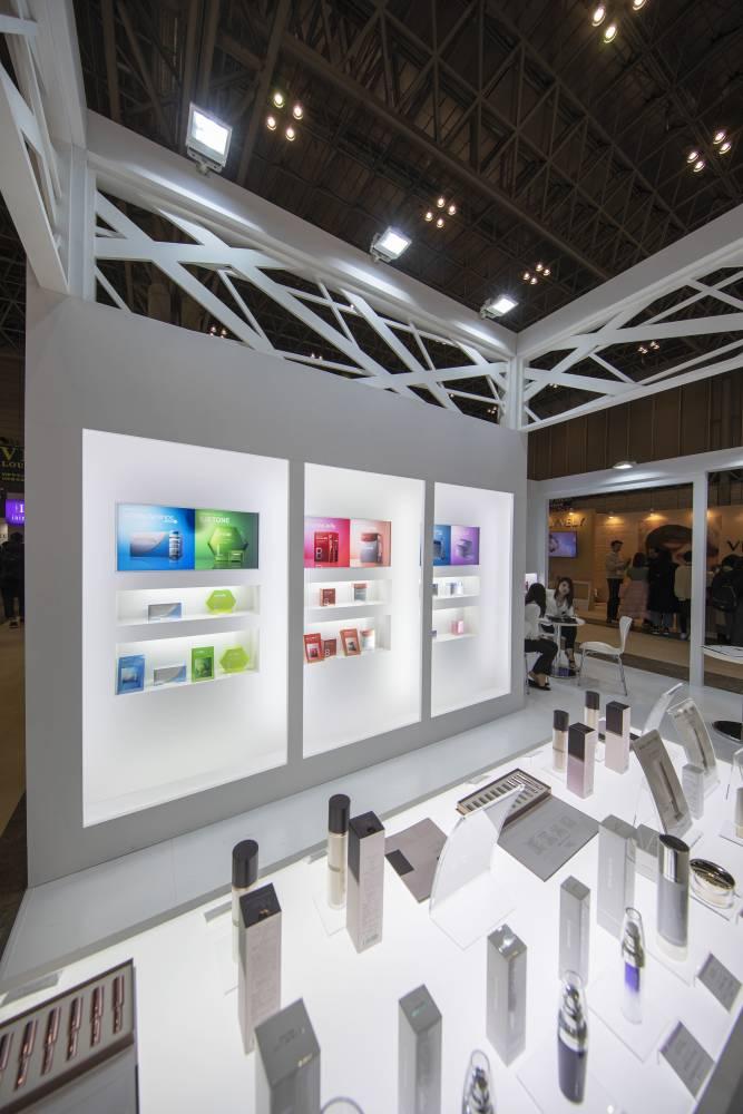 化粧品開発展2020 東京 アクシージアブース ブースニッチ側