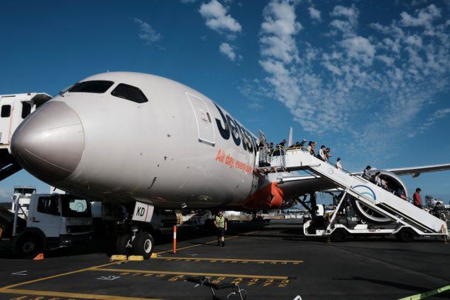 カンタス航空便がなんと欠航。で代替便はJetStarでゴールドコーストへ。
