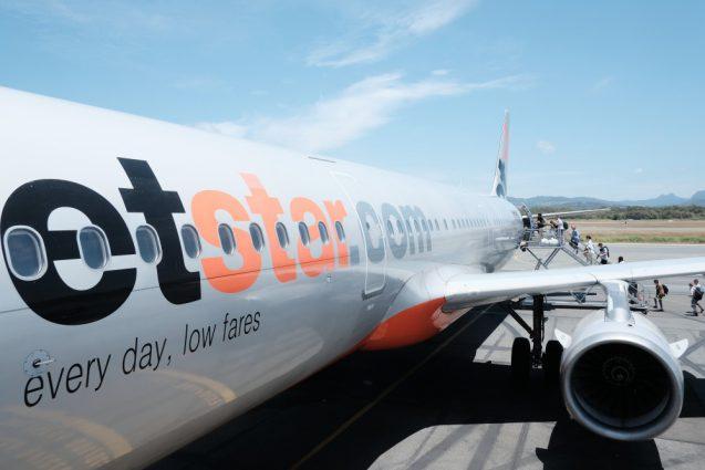カンタス航空便がいきなり欠航。で代替便はJet Star。