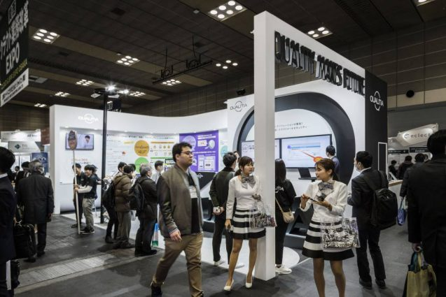 Japan IT-Week 2020 関西 QUALITIA booth 会場の様子全景その1