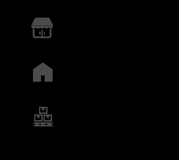 Designcafeがご提供するオムニチャネルのデザインは次に集約されます。店舗空間とショールーム空間のデザインは、一般ユーザーのリアルなブランド体験と商品体験を提供する事で空間デザインからの印象と商品を直に見れる。仮設空間と展示会ブースとイベント空間のデザインは、ヘビーユーザーを中心にディーラーや商社など販売に携わる人たちとの接点をデザイン。新製品発表会やコレクション発表など。本社屋、製造部門などの建築と空間デザインは、ヘビーユーザーやステークホルダーとの接点をデザイン。ブランドヘリテージの訴求や品質訴求など。