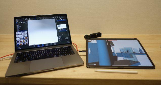 """MacBookPro13"""" / iPad-Proでのデザインワーク。DJIのOSMOは散歩の時のお供で。"""