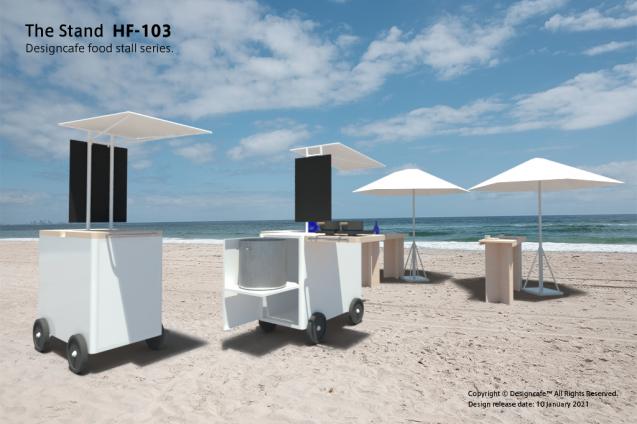 The Stand HF-103/ 小型可搬型ながら約100人分の炊き出しが可能な屋台デザイン