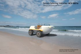 "Smart Catterring Vehicles SCV-001 ""BUSTUB"" Designcafe food stall series CONCEPT."